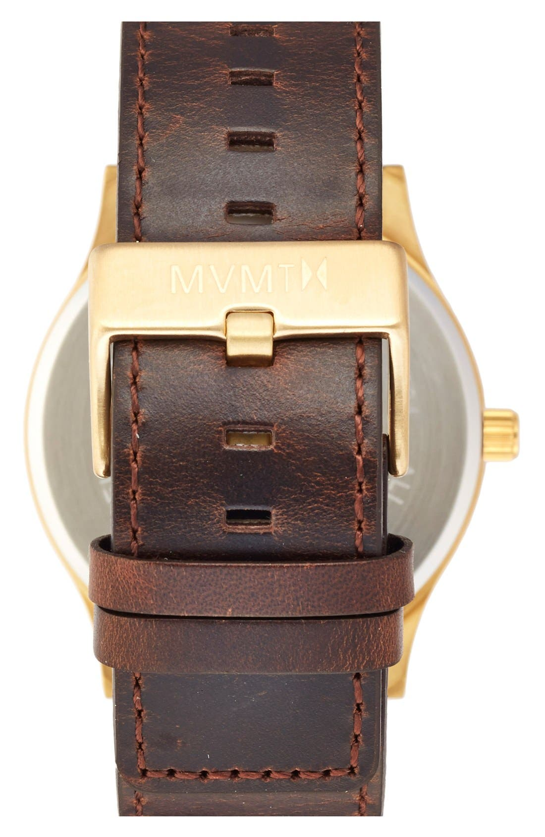 Alternate Image 3  - MVMT Leather Strap Watch, 45mm
