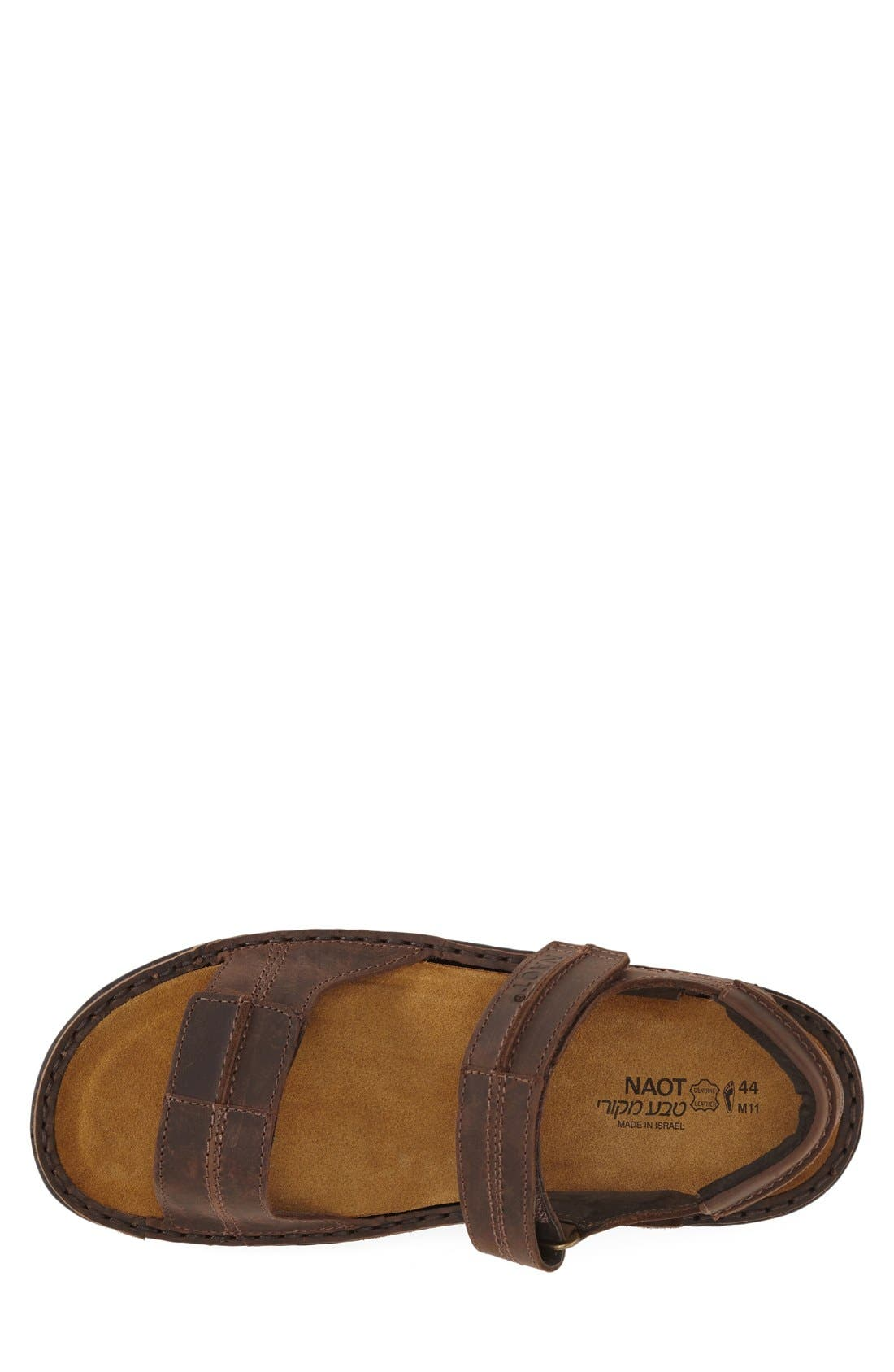 Balkan Sandal,                             Alternate thumbnail 3, color,                             Brown Leather