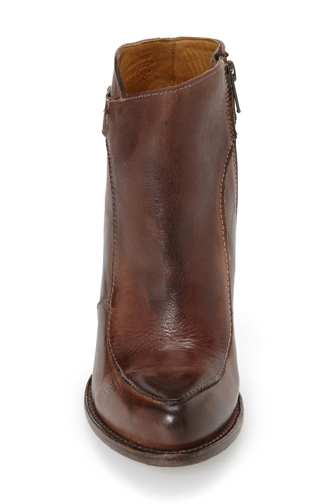 'Isla' Stacked Heel Boot,                             Alternate thumbnail 3, color,                             Teak Rustic Leather