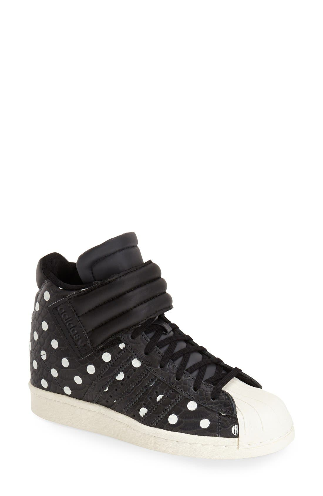 Alternate Image 1 Selected - adidas 'Superstar Up Strap' Hidden Wedge Sneaker (Women)