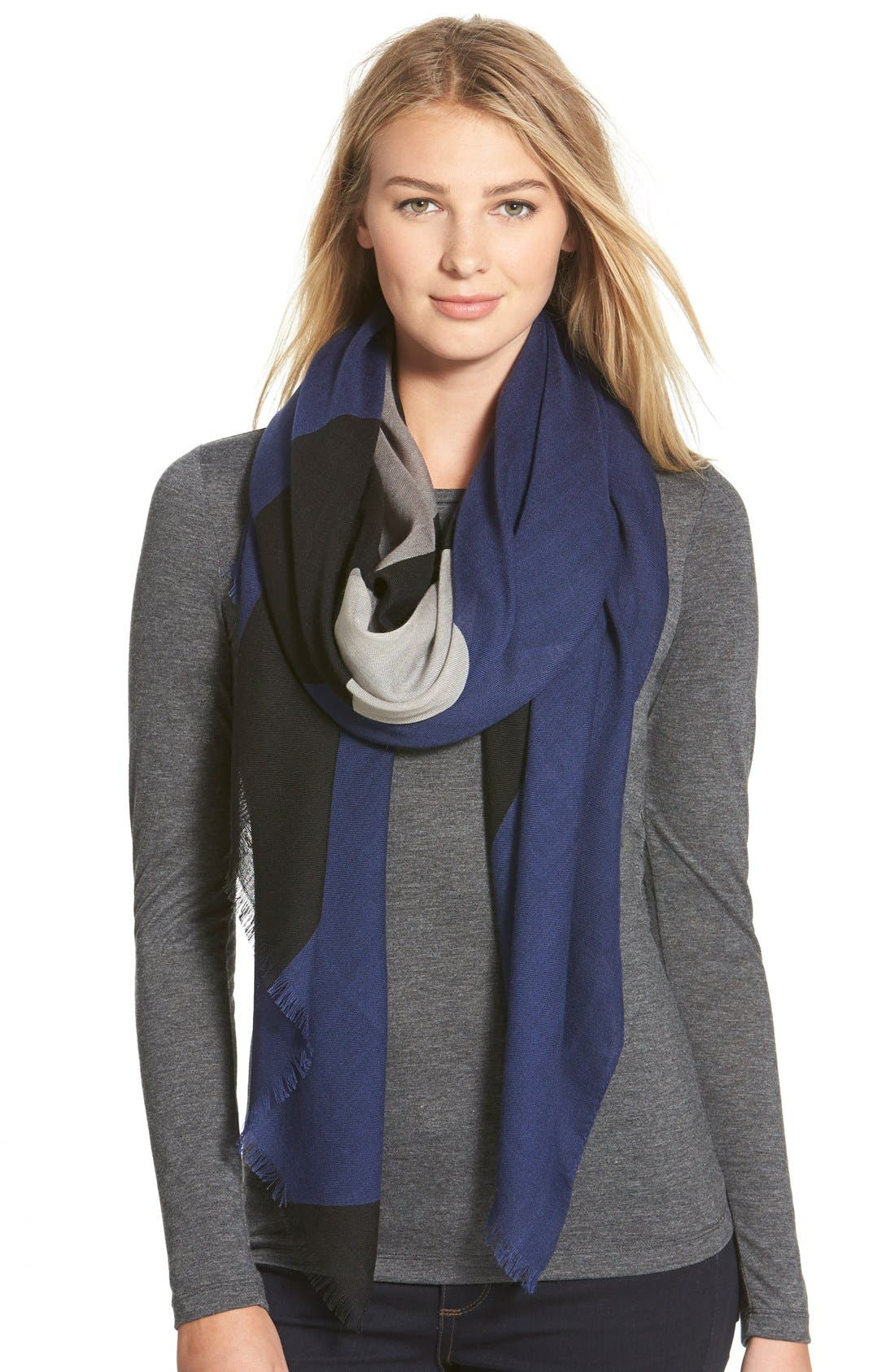 Alternate Image 1 Selected - rag & bone Colorblock Wool Scarf