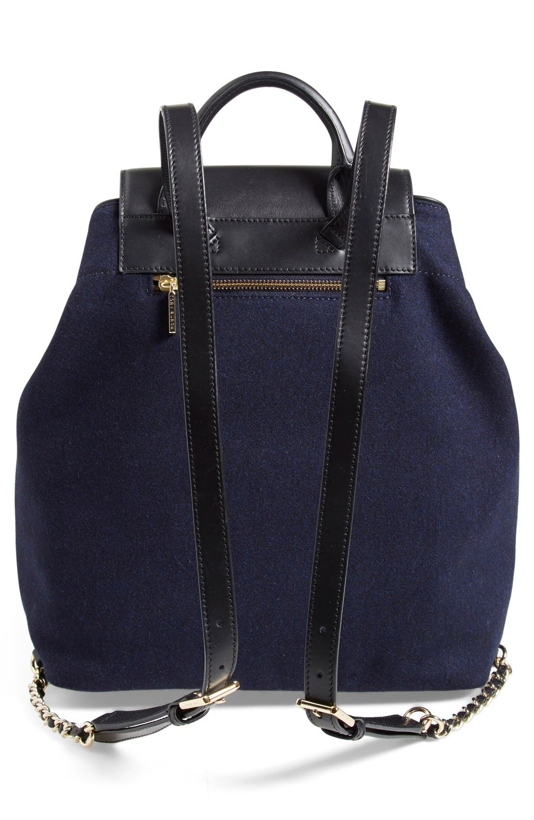 Alternate Image 3  - Tory Burch 'Marion' QuiltedFlannel Backpack