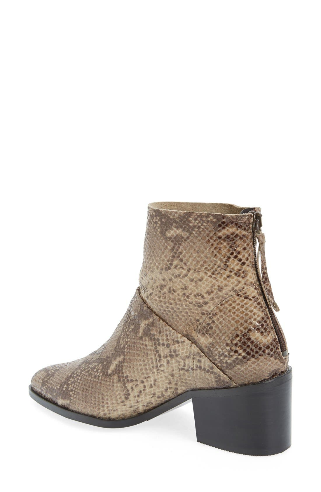 Alternate Image 2  - Topshop 'Midnight' Snake Embossed Ankle Boot (Women)