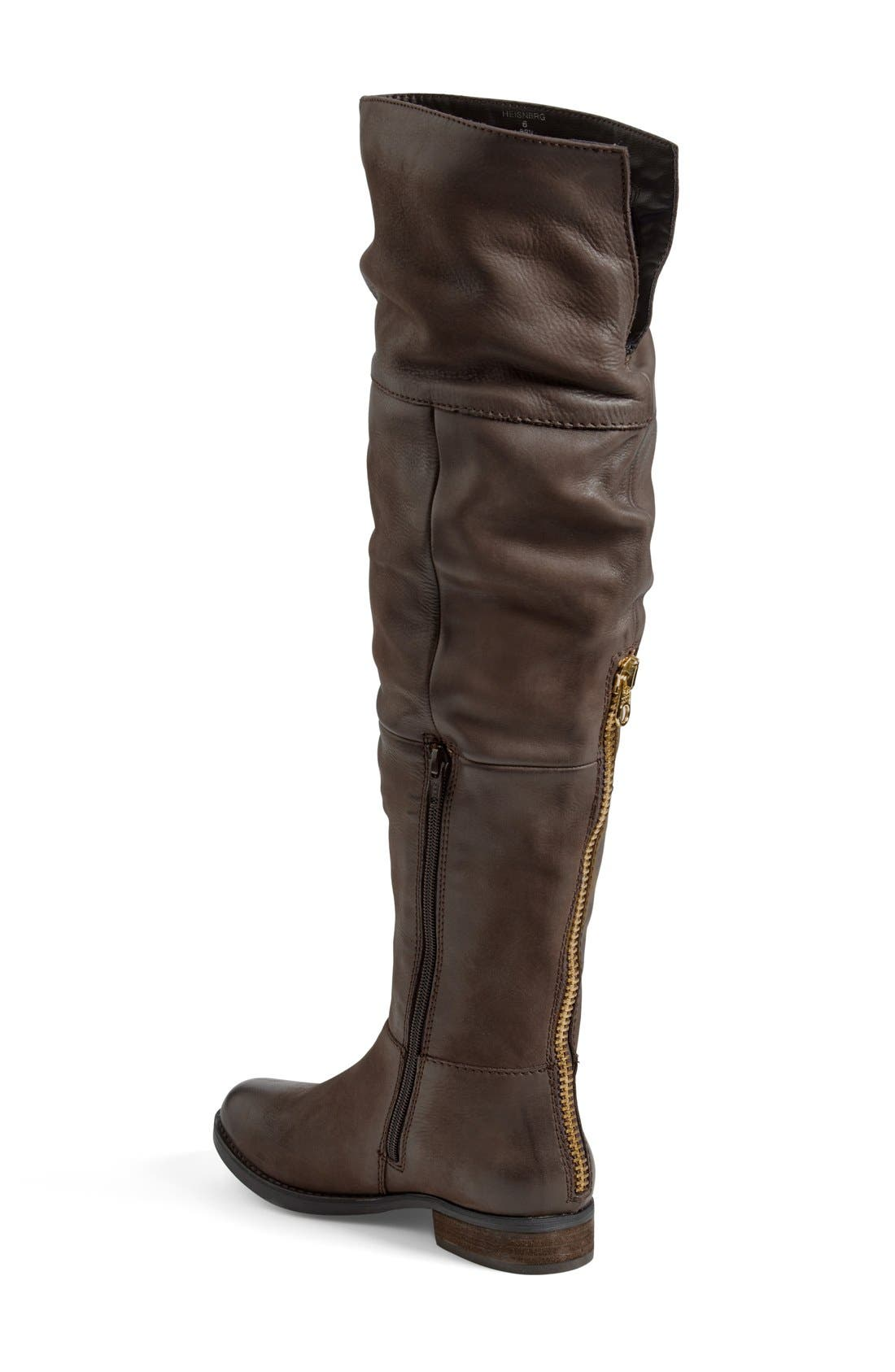'Heisnbrg' Leather Over the Knee Boot,                             Alternate thumbnail 3, color,                             Brown Leather