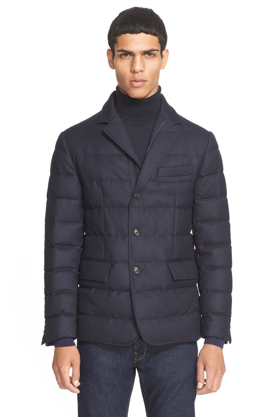 Main Image - Moncler 'Rodin' Quilted Down Sport Coat