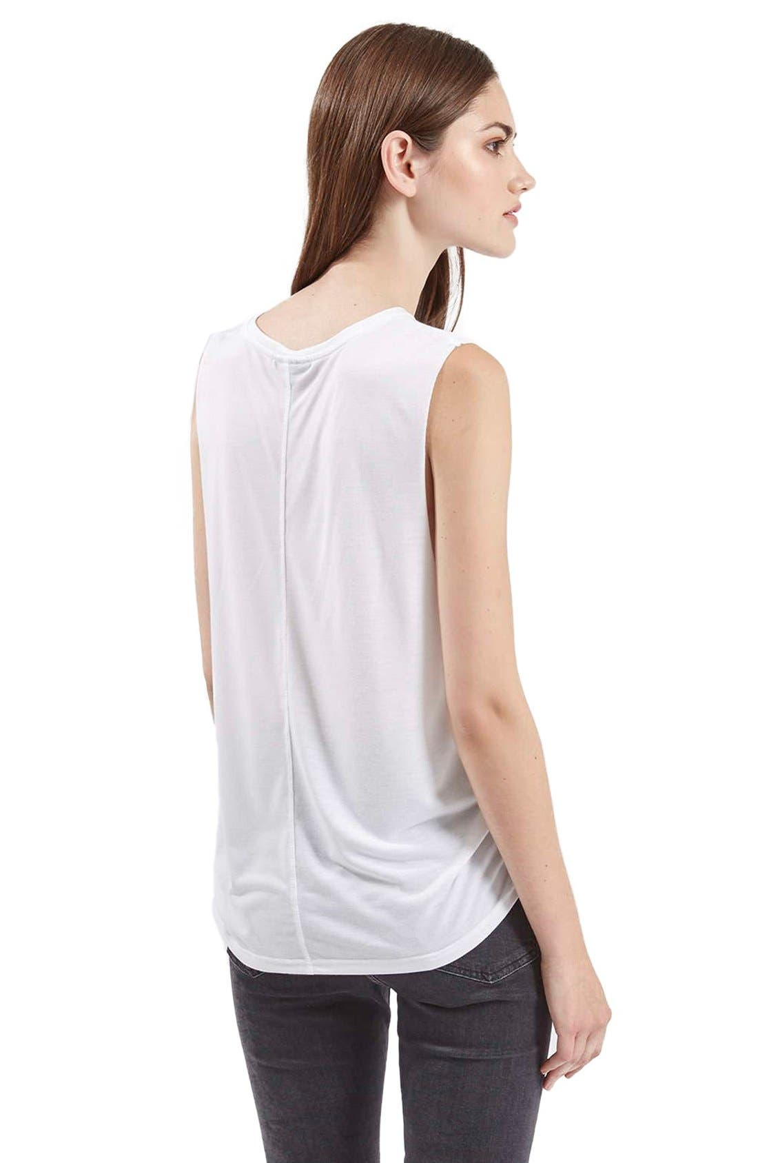 Alternate Image 3  - Topshop Slouchy Muscle Tank