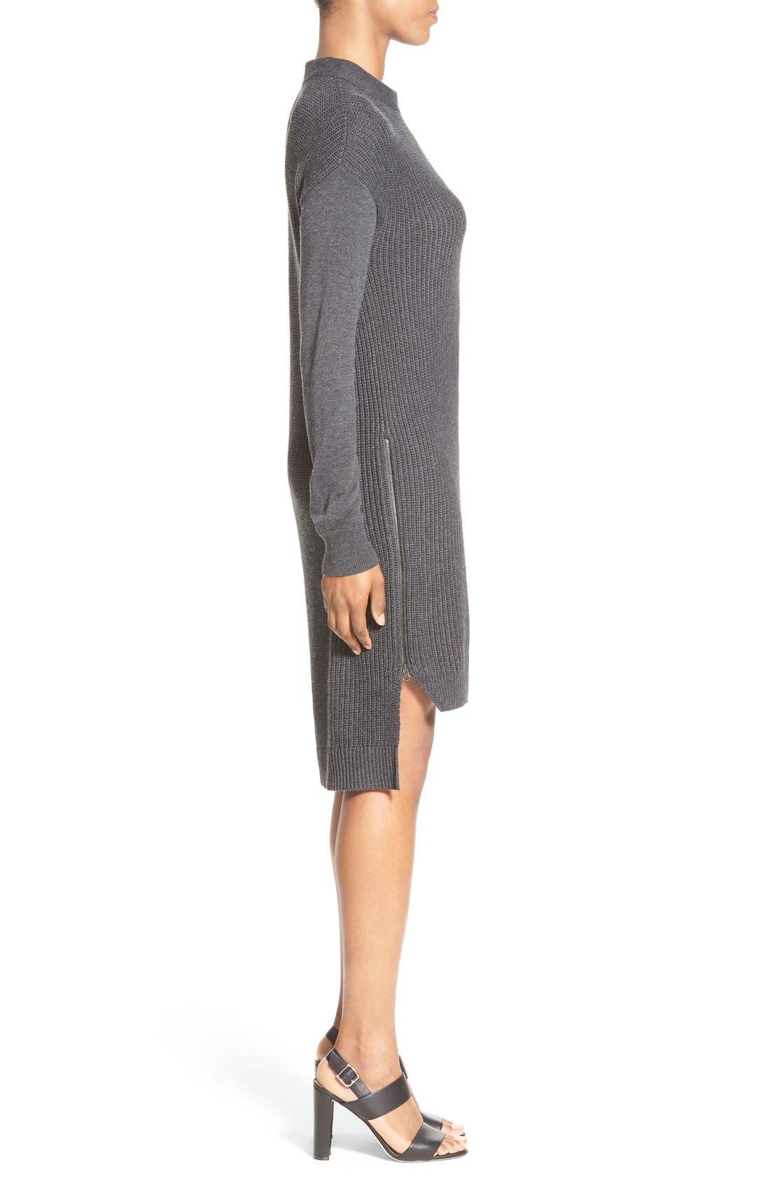 Alternate Image 3  - Halogen® Stitch Detail Knit Tunic (Regular & Petite)