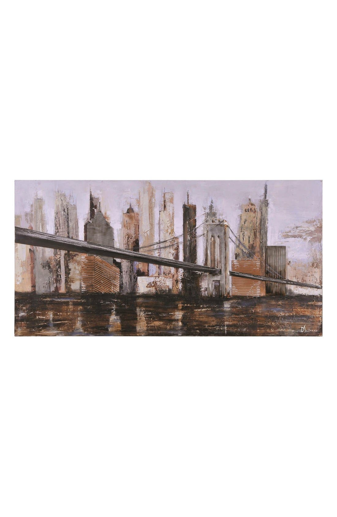 'Urban Style' Canvas Wall Art,                         Main,                         color, Brown
