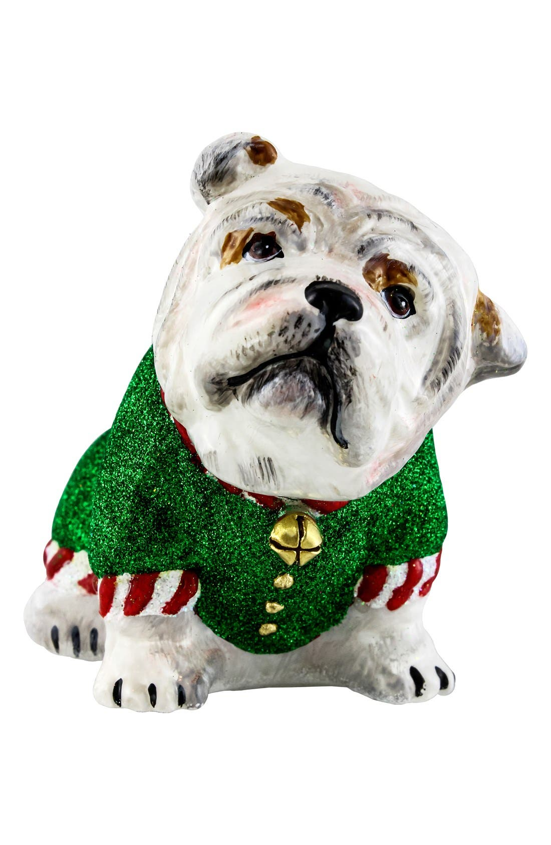 'Santa's Little Yelper' Dog Ornament,                             Main thumbnail 1, color,                             Bulldog