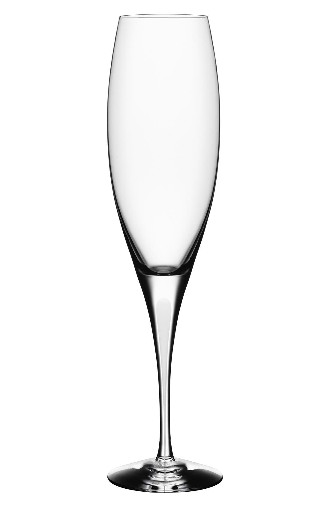'Intermezzo' Champagne Flute,                             Main thumbnail 1, color,                             Clear/ Satin