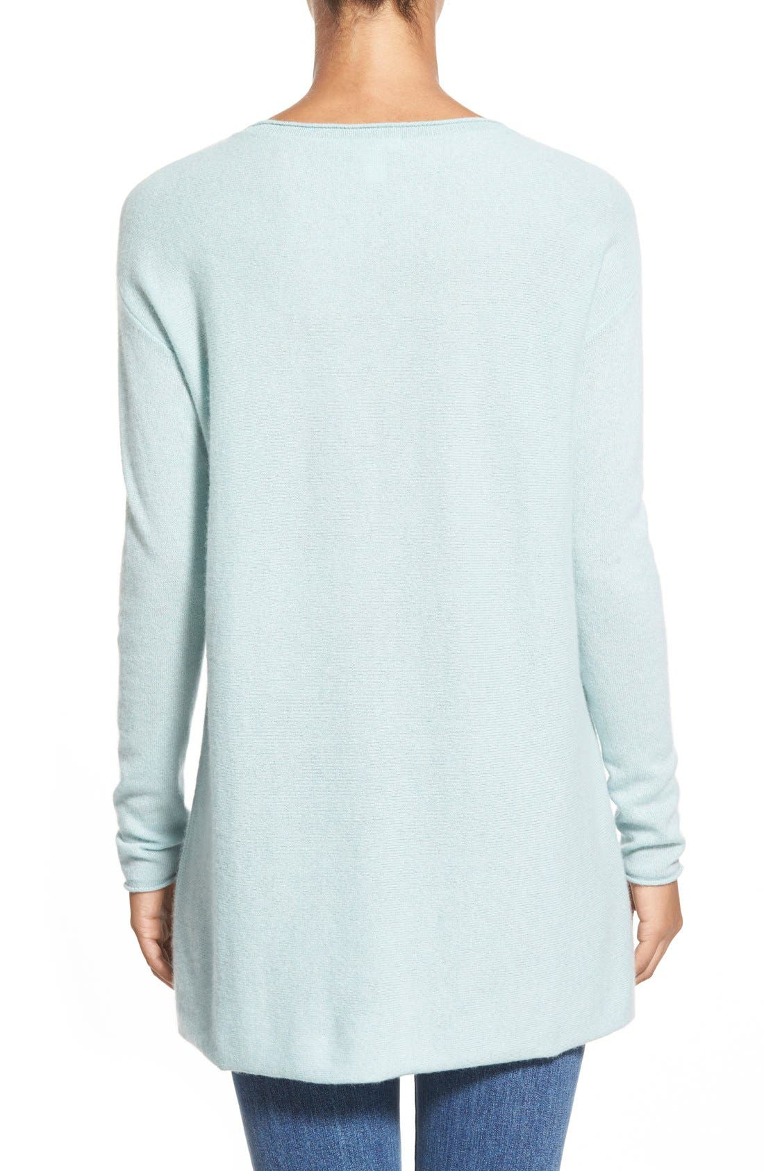 Alternate Image 2  - Caslon® Cashmere Tunic (Regular & Petite)