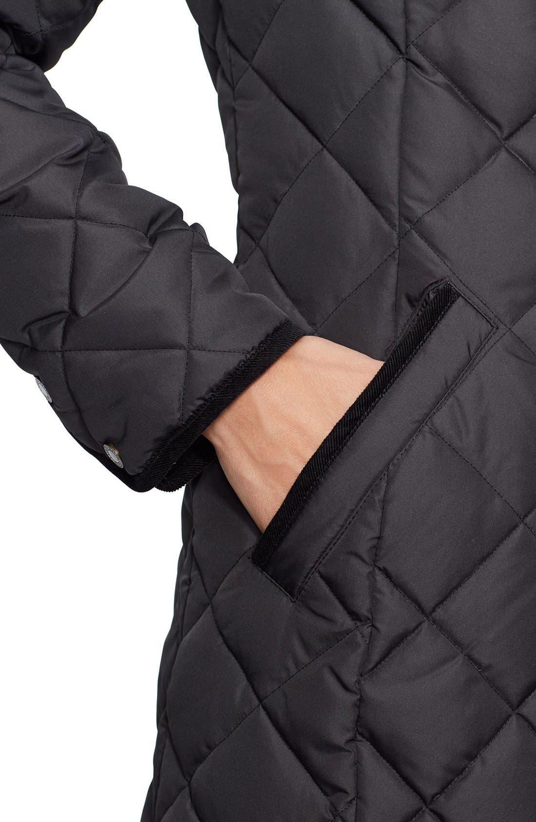 Alternate Image 4  - Lauren Ralph Lauren Faux Fur Trim Down & Feather FillParka (Regular & Petite)