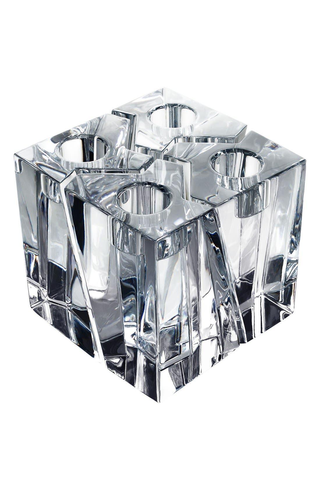 Main Image - Orrefors'Klone' Square Crystal Candlestick Holders (Set of 4)