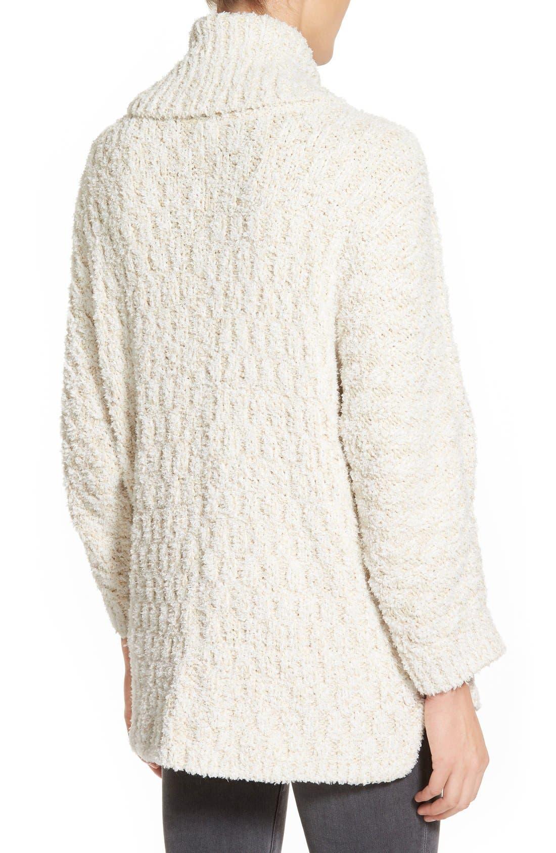 Alternate Image 2  - Chelsea28 Fluffy Turtleneck Sweater