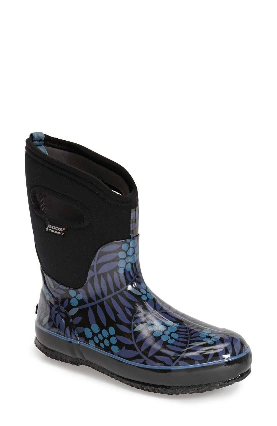 Bogs 'Winterberry' Mid High Waterproof Snow Boot with Cutout Handles (Women)