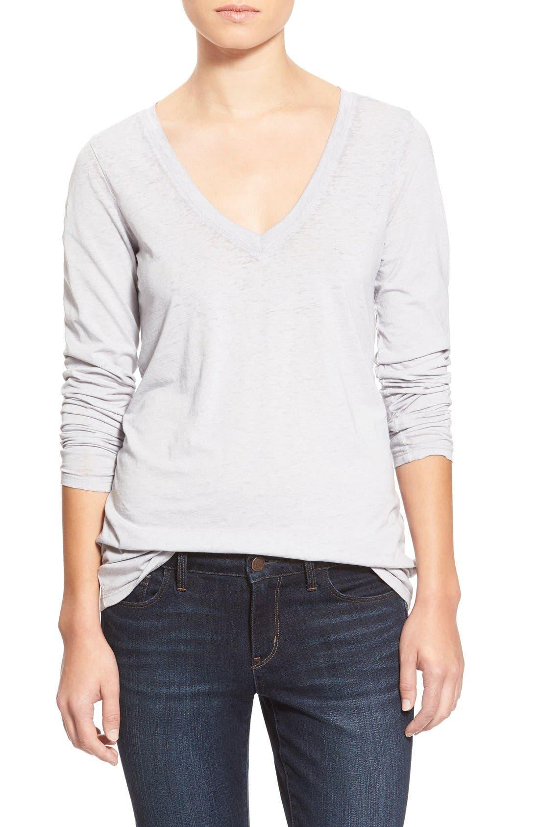 Main Image - Stem Lightweight Long Sleeve V-Neck Tee