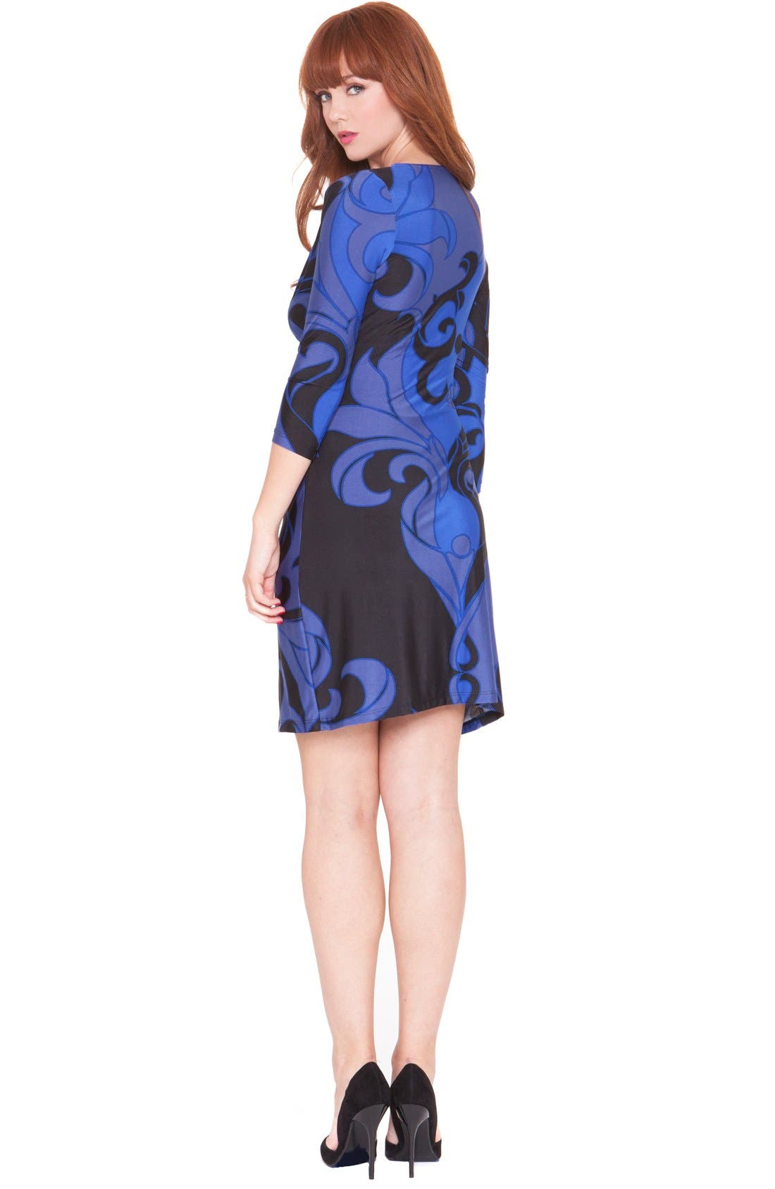 Alternate Image 2  - Olian 'Katherine' Maternity Wrap Dress