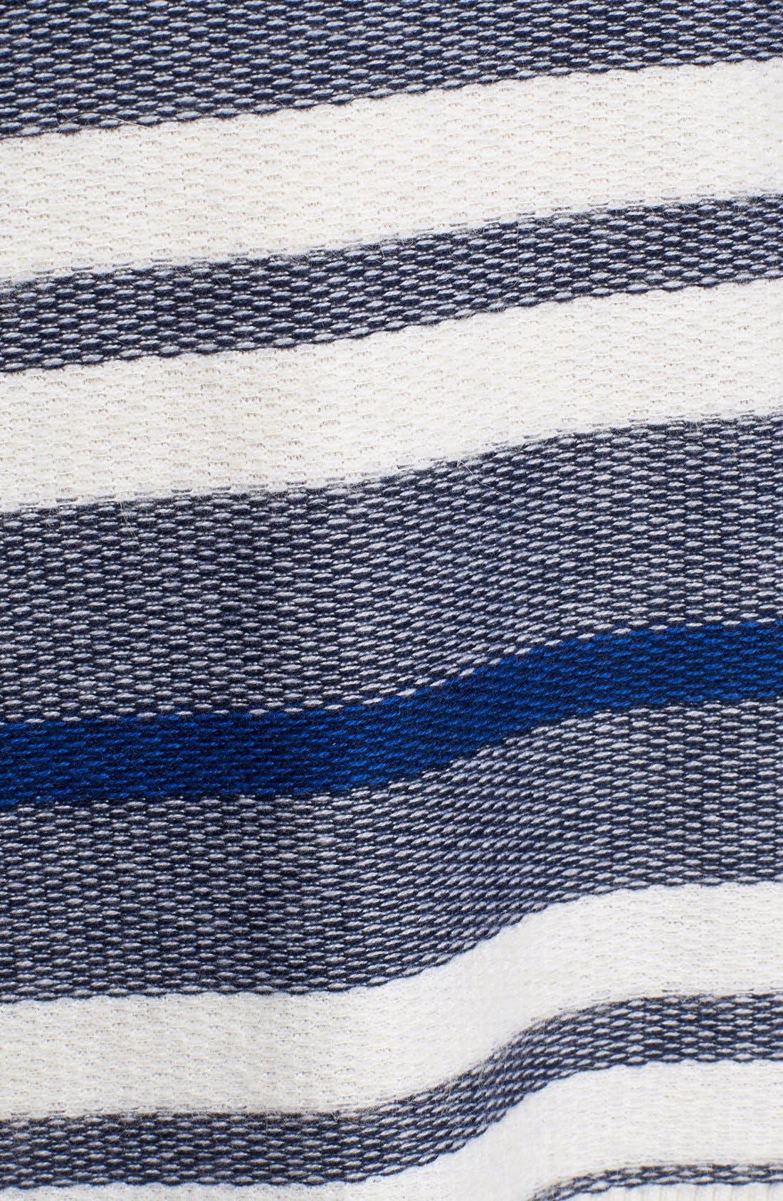 Alternate Image 5  - Nordstrom Collection Stripe Wool Blend Pullover