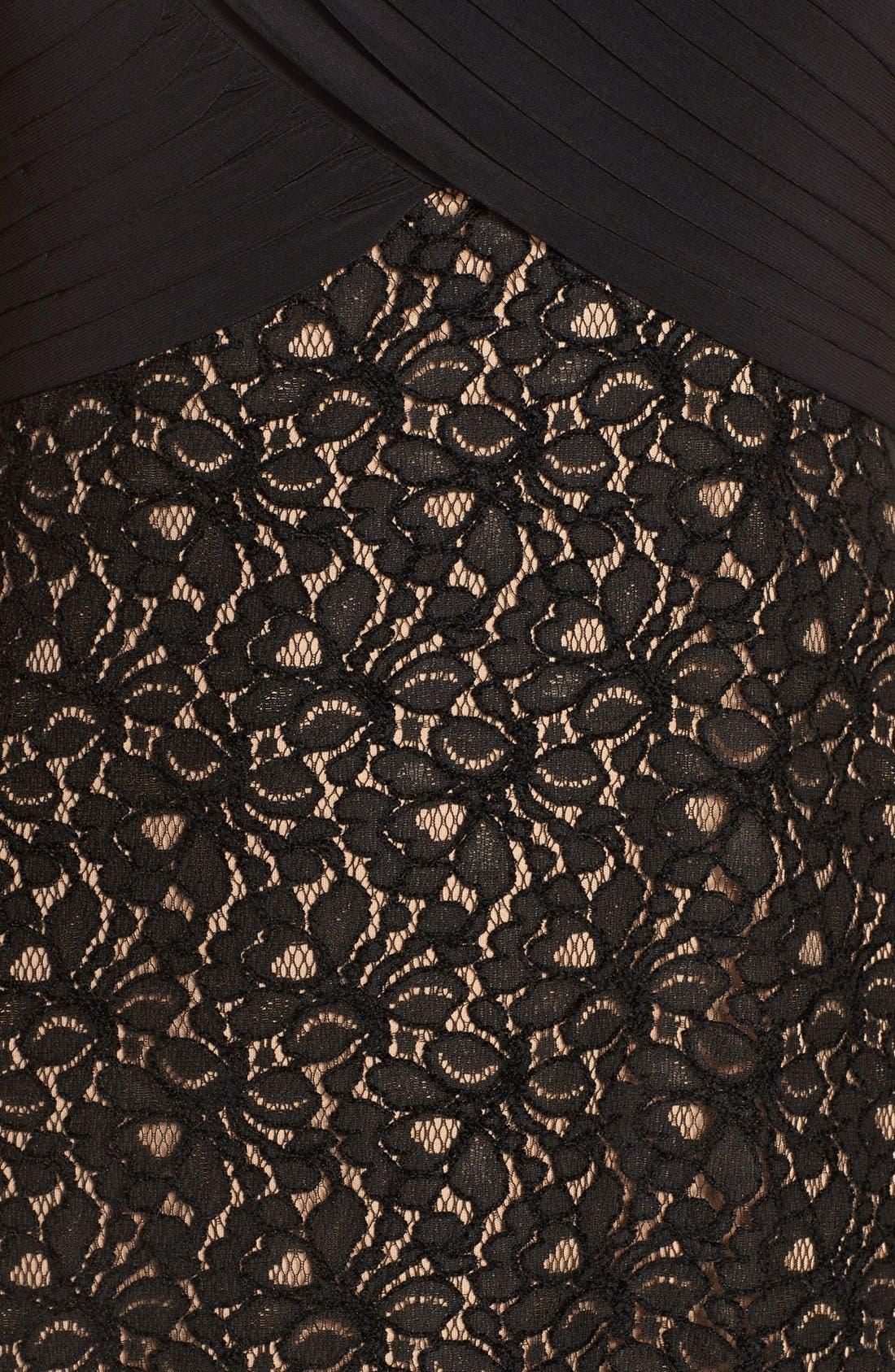 Alternate Image 4  - PatraCrisscross Mixed Media Gown