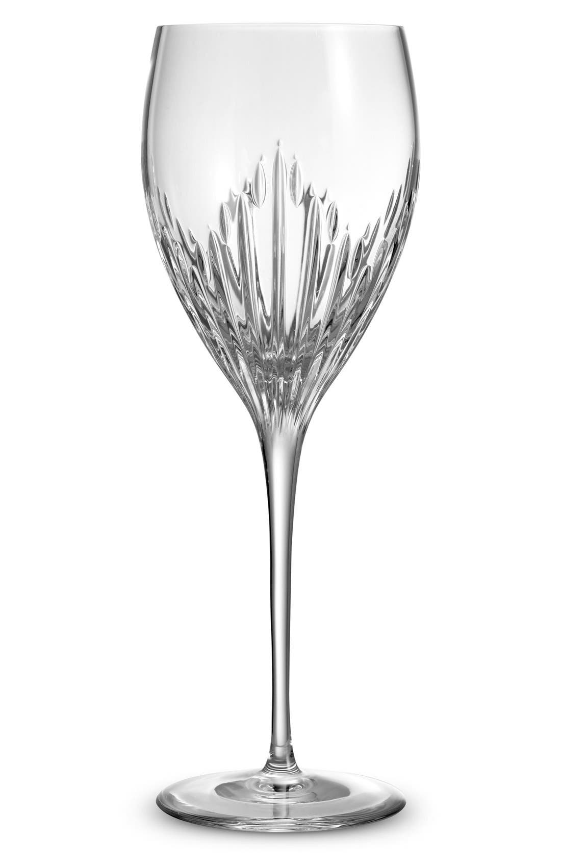 Monique Lhuillier Waterford 'Stardust' Lead Crystal Wine Glass,                             Main thumbnail 1, color,                             Clear