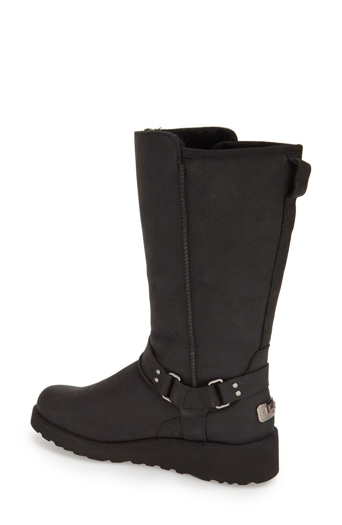 'Jasper' Water Resistant Boot,                             Alternate thumbnail 2, color,                             Black Leather