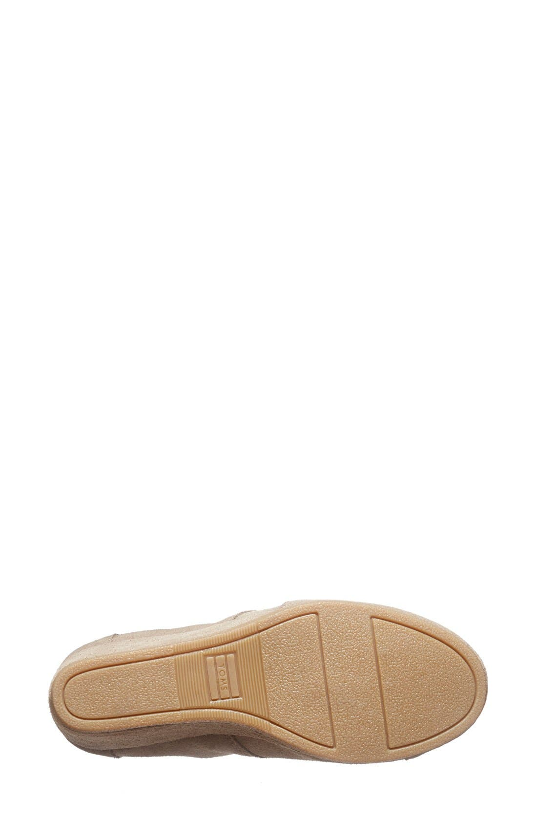 'Desert' Wedge Bootie,                             Alternate thumbnail 4, color,                             Taupe Suede