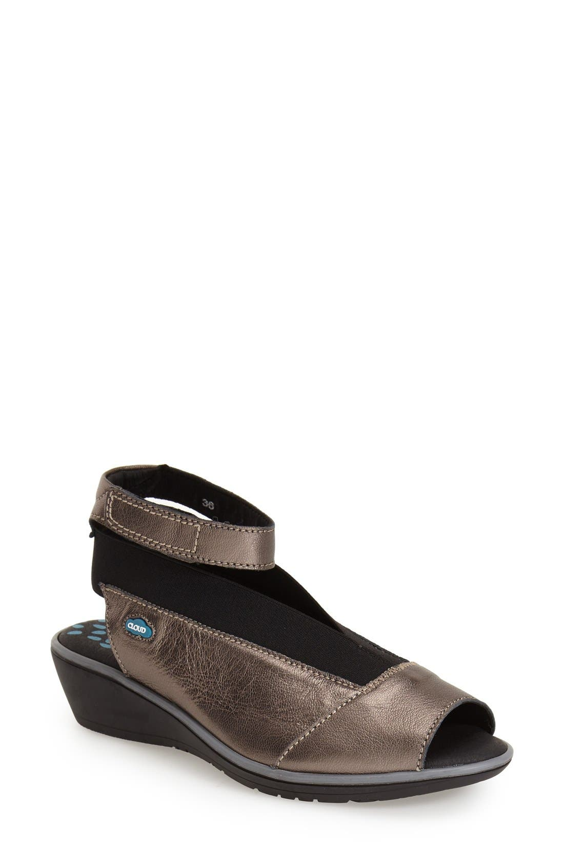 Alternate Image 1 Selected - CLOUD Saucy Ankle Strap Wedge (Women)