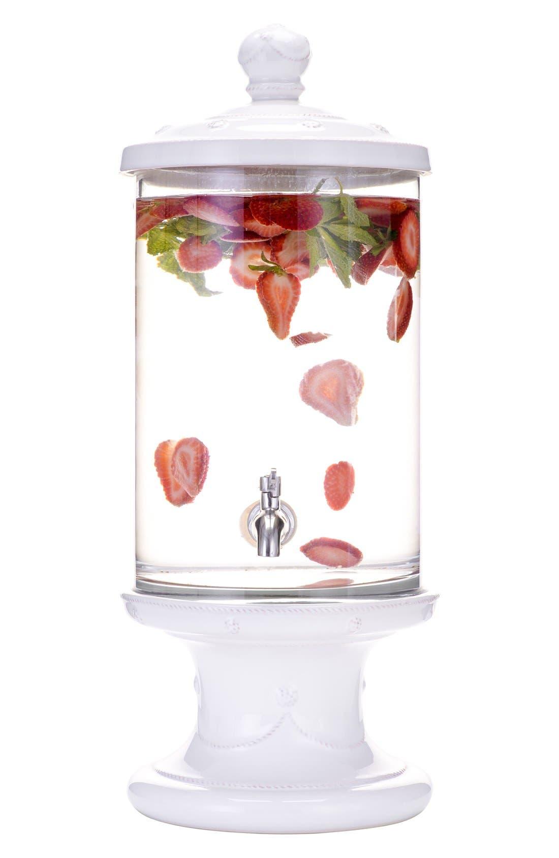 'Berry and Thread' Beverage Dispenser,                             Alternate thumbnail 2, color,                             Whitewash
