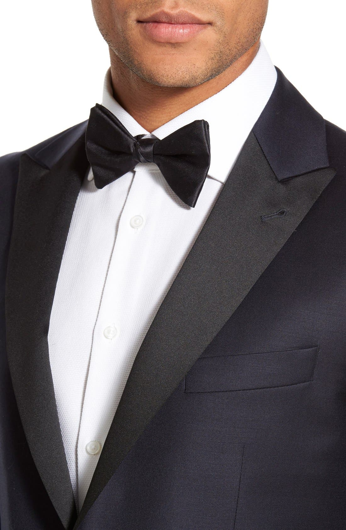 Alternate Image 6  - Strong Suit 'Aston' Trim Fit Solid Wool Tuxedo