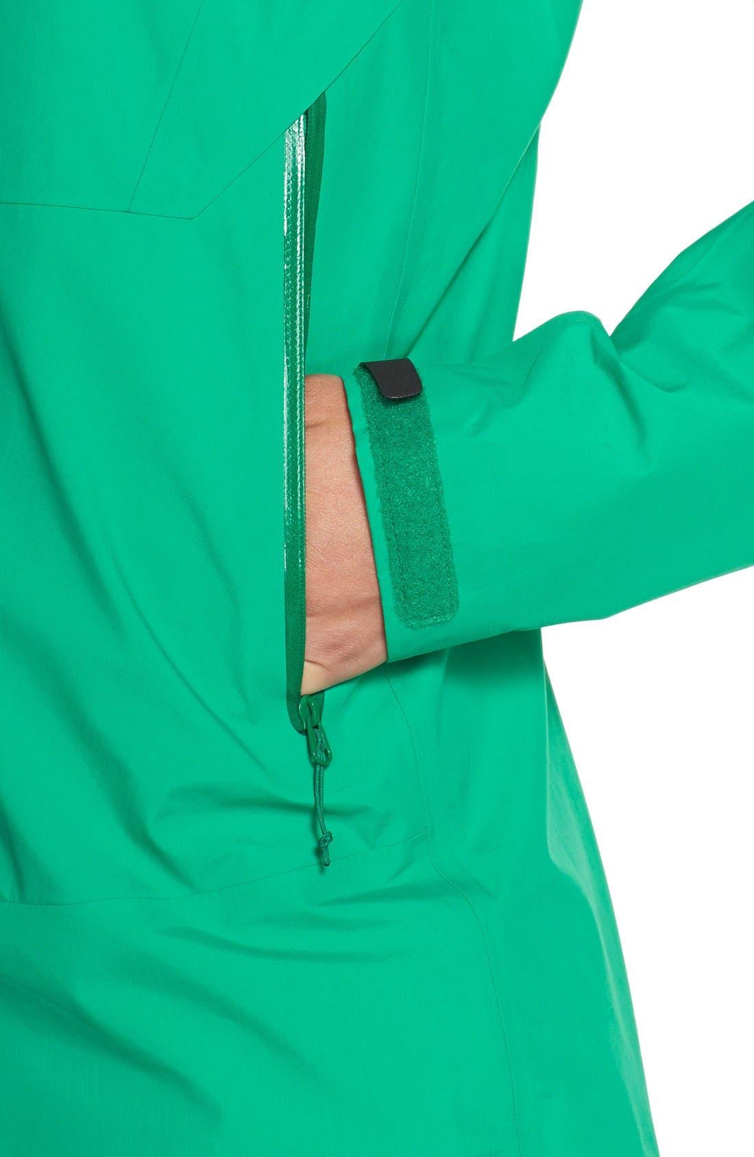 'Beta SL' Waterproof Jacket,                             Alternate thumbnail 4, color,                             Parakeet
