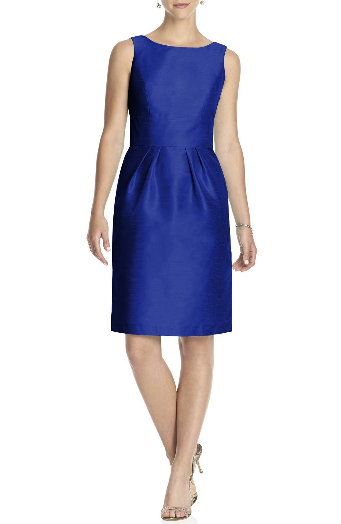 Boatneck Sheath Dress,                         Main,                         color, Royal