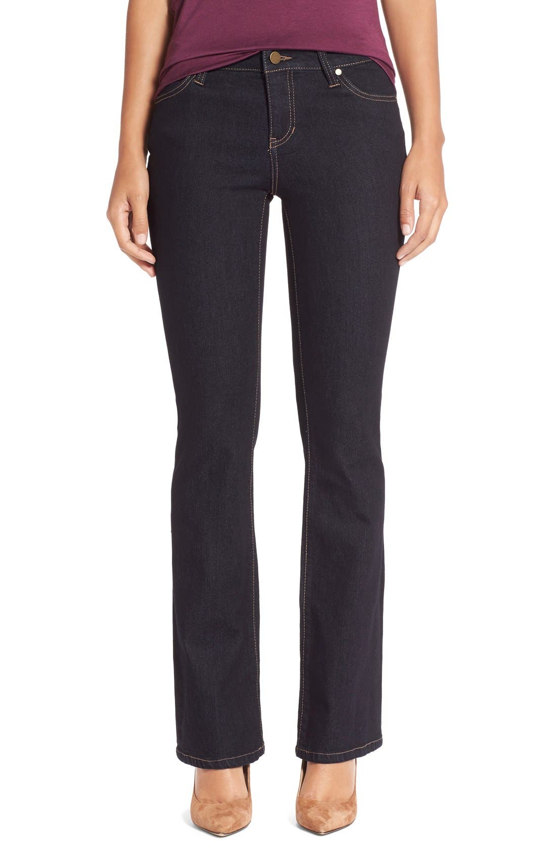Lucy Stretch Bootcut Jeans,                         Main,                         color, Indigo Rinse