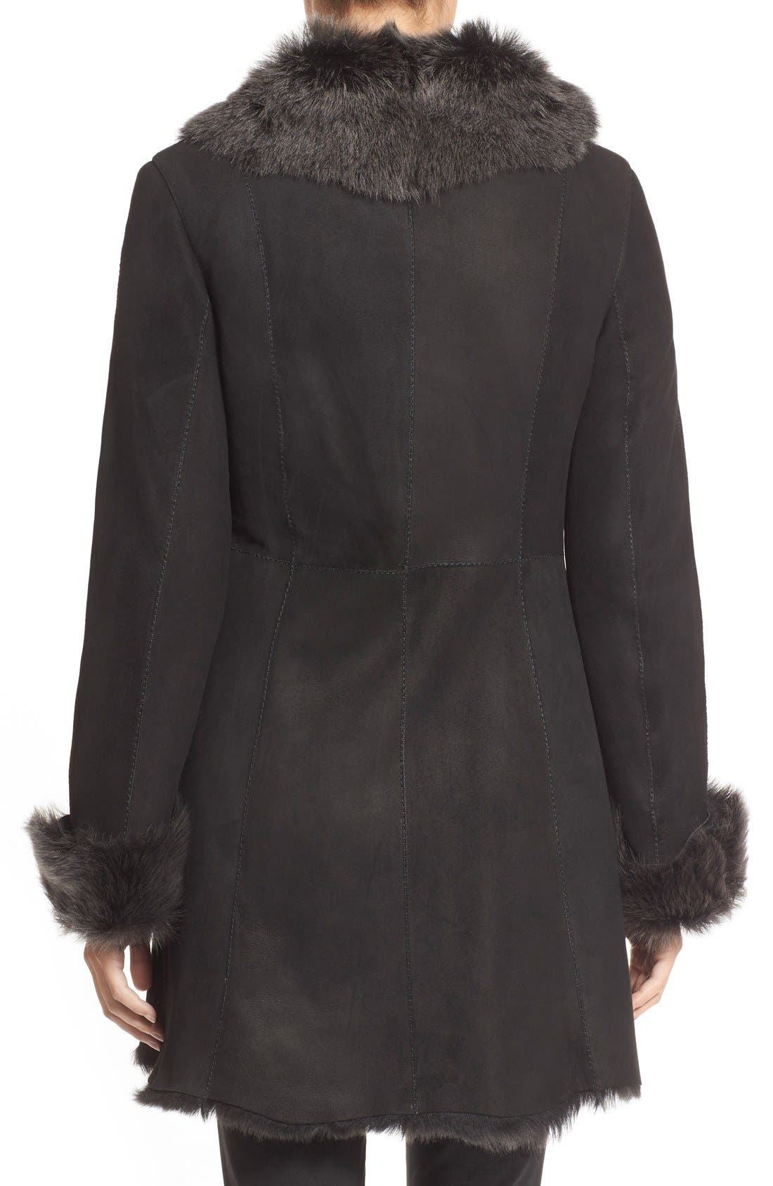 Alternate Image 2  - HiSO Genuine Toscana Shearling Coat