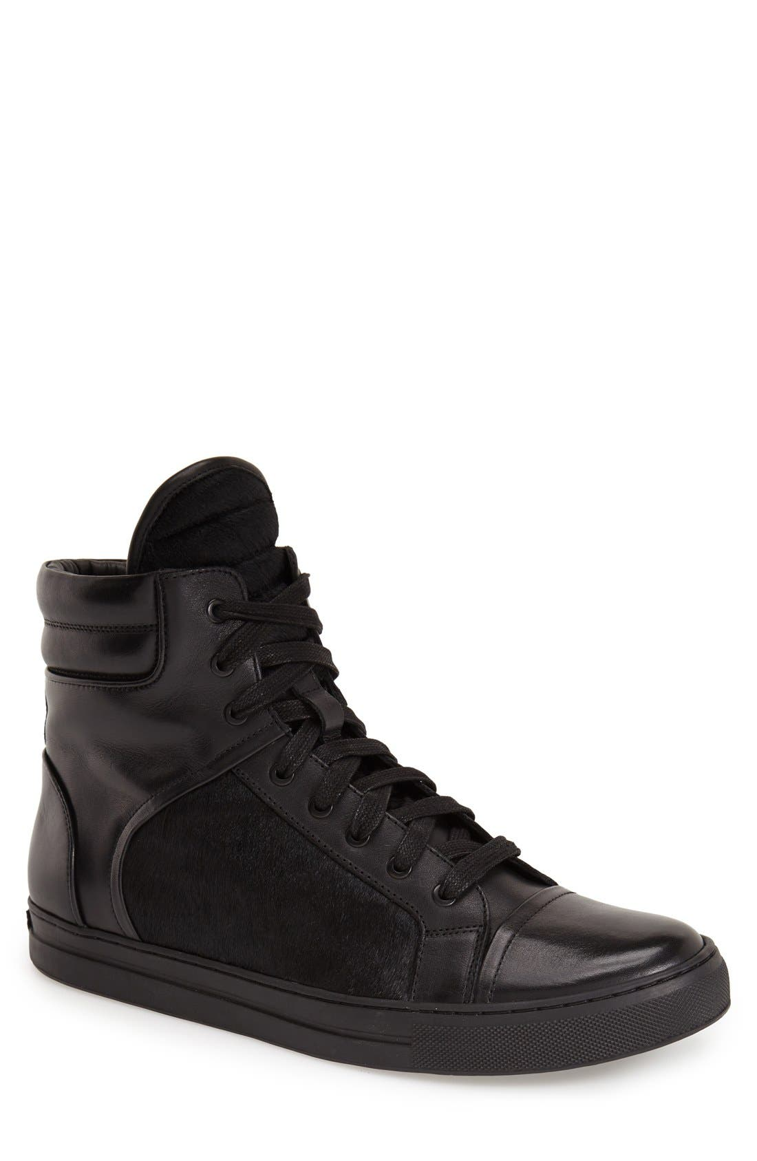 Alternate Image 1 Selected - Kenneth Cole New York 'Double Over' ZipHigh Top Sneaker (Men)