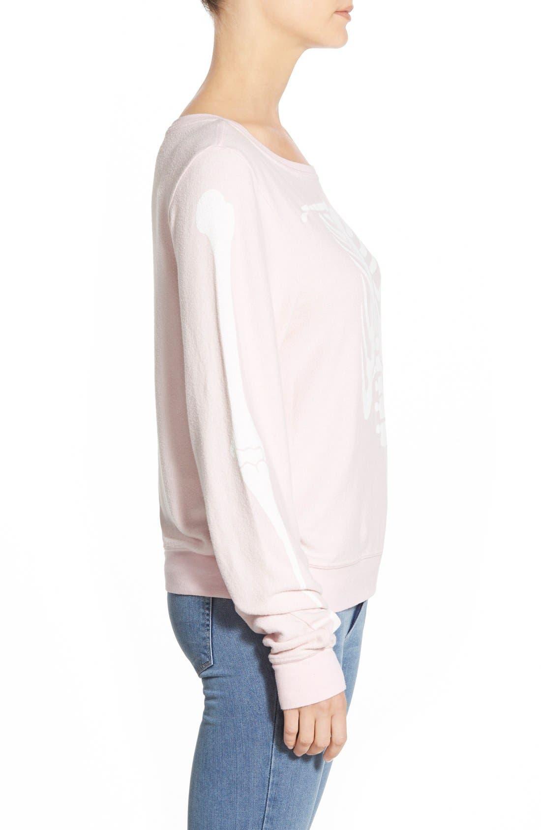 Alternate Image 4  - Wildfox 'Inside Out' Long Sleeve Sweatshirt