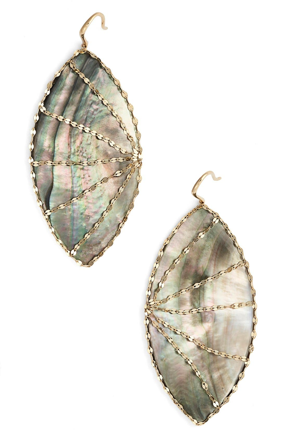 Lana Jewelry 'Mystiq Isabella' Drop Earrings,                             Main thumbnail 1, color,                             Black Mother Of Pearl