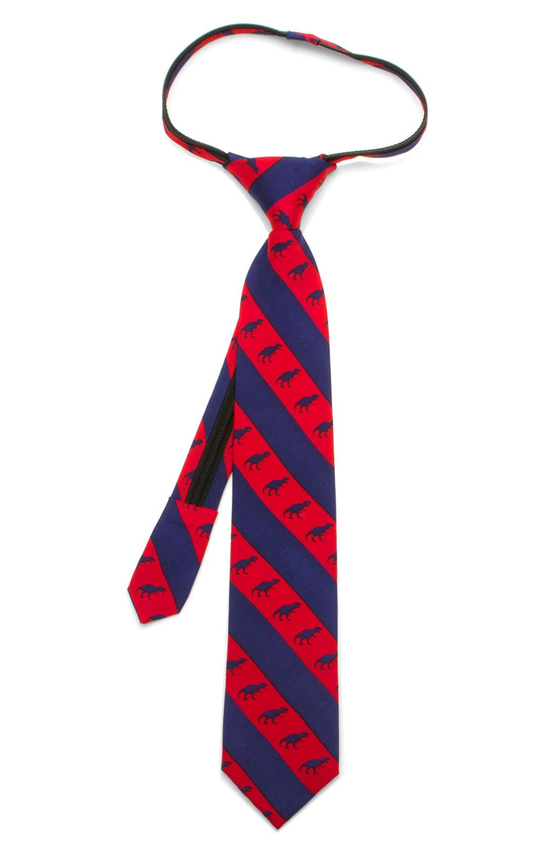 Main Image - Ox and Bull Trading Co. 'T-Rex' Silk Tie (Little Boys)