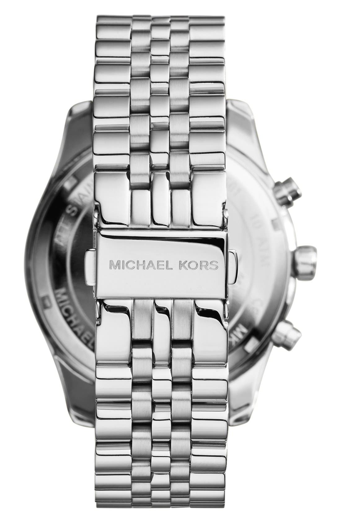 Alternate Image 2  - Michael Kors 'Lexington' Chronograph Bracelet Watch, 44mm