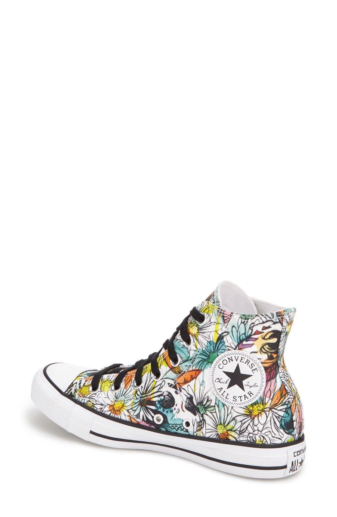 Alternate Image 2  - Converse Chuck Taylor® All Star® 'Floral' High Top Sneaker (Women)