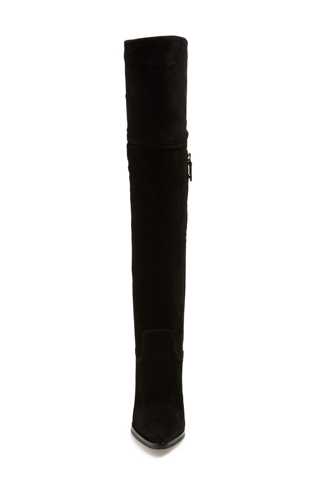 'Alana' Over the Knee Boot,                             Alternate thumbnail 3, color,                             Black Suede