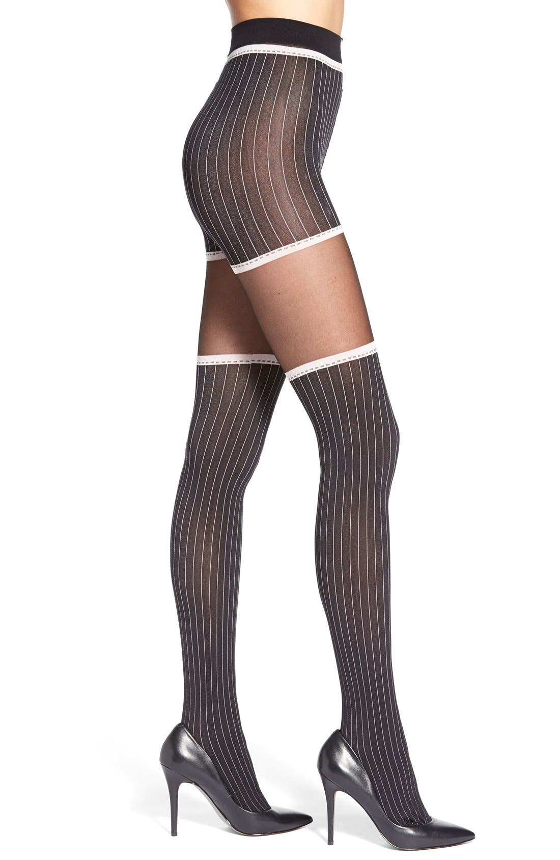Alternate Image 1 Selected - Oroblu Pinstripe Tights