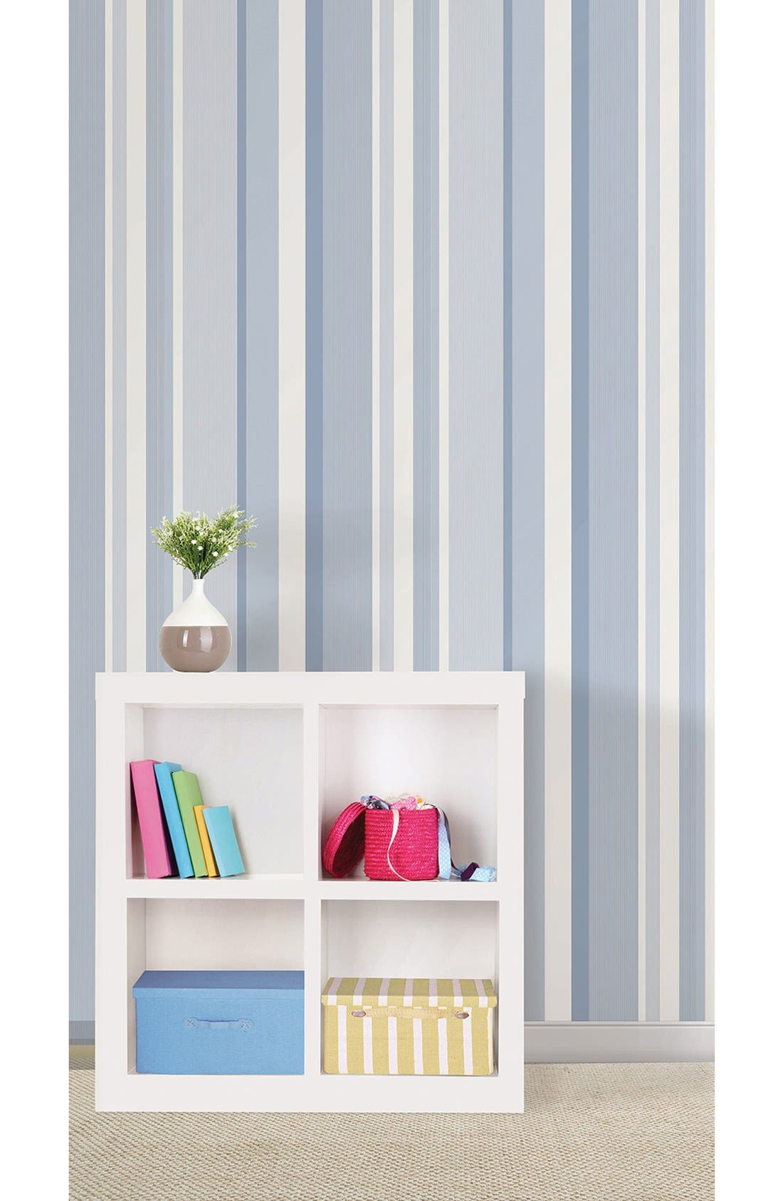 Alternate Image 2  - Wallpops Awning Stripe Reusable Peel & Stick Vinyl Wallpaper