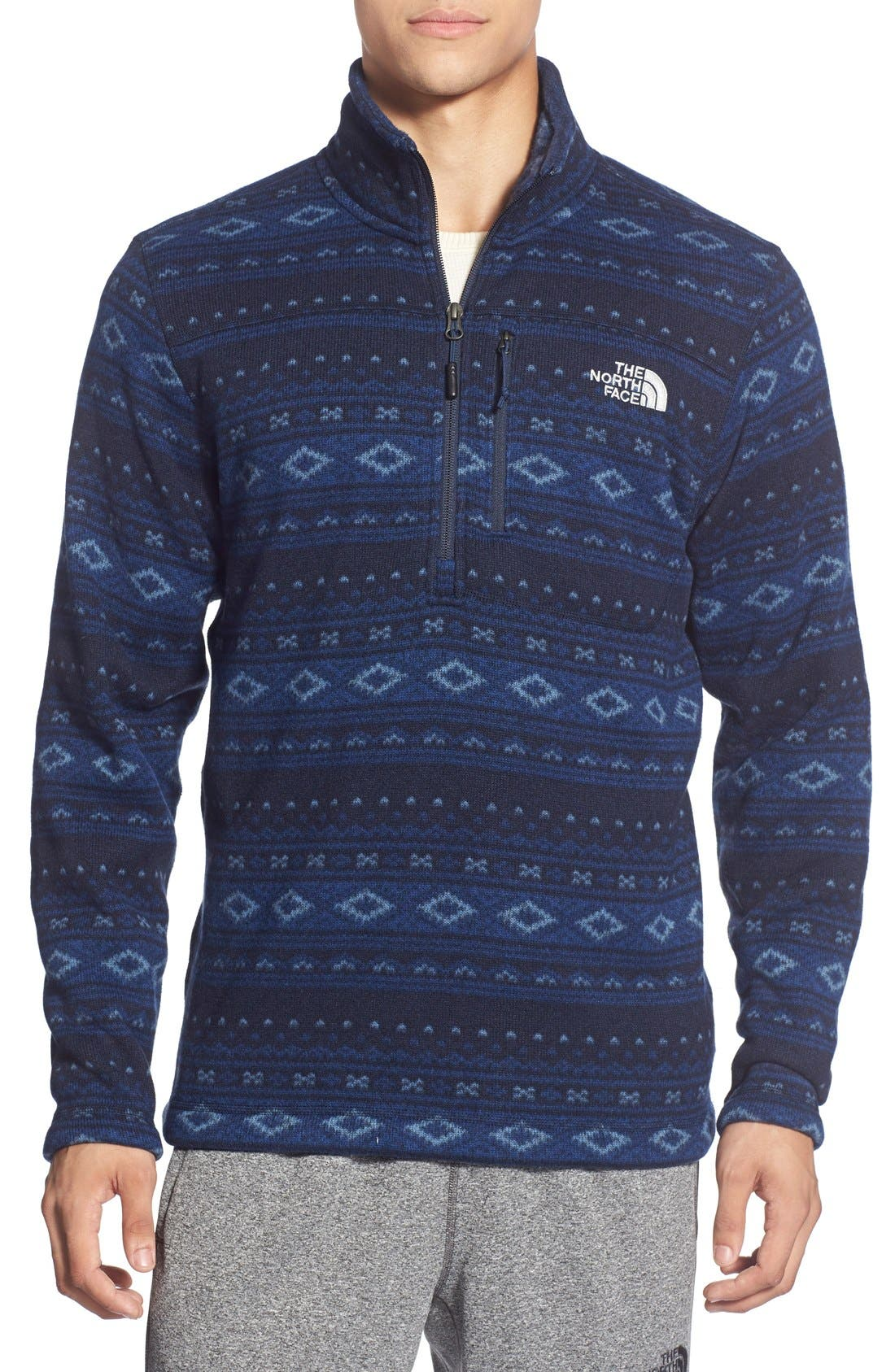 The North Face Fair Isle Quarter Zip Fleece Sweater   Nordstrom