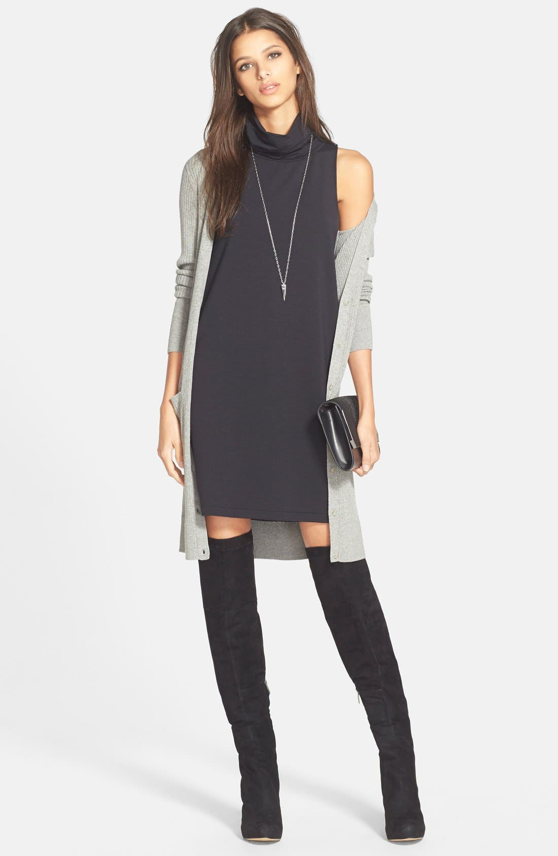 'Kayla' Over the Knee Boot,                             Alternate thumbnail 2, color,                             Black Suede