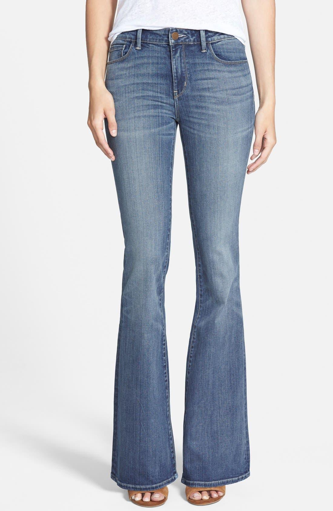 Main Image - Treasure&Bond Skinny Flare Jeans (Mode Medium Vintage)