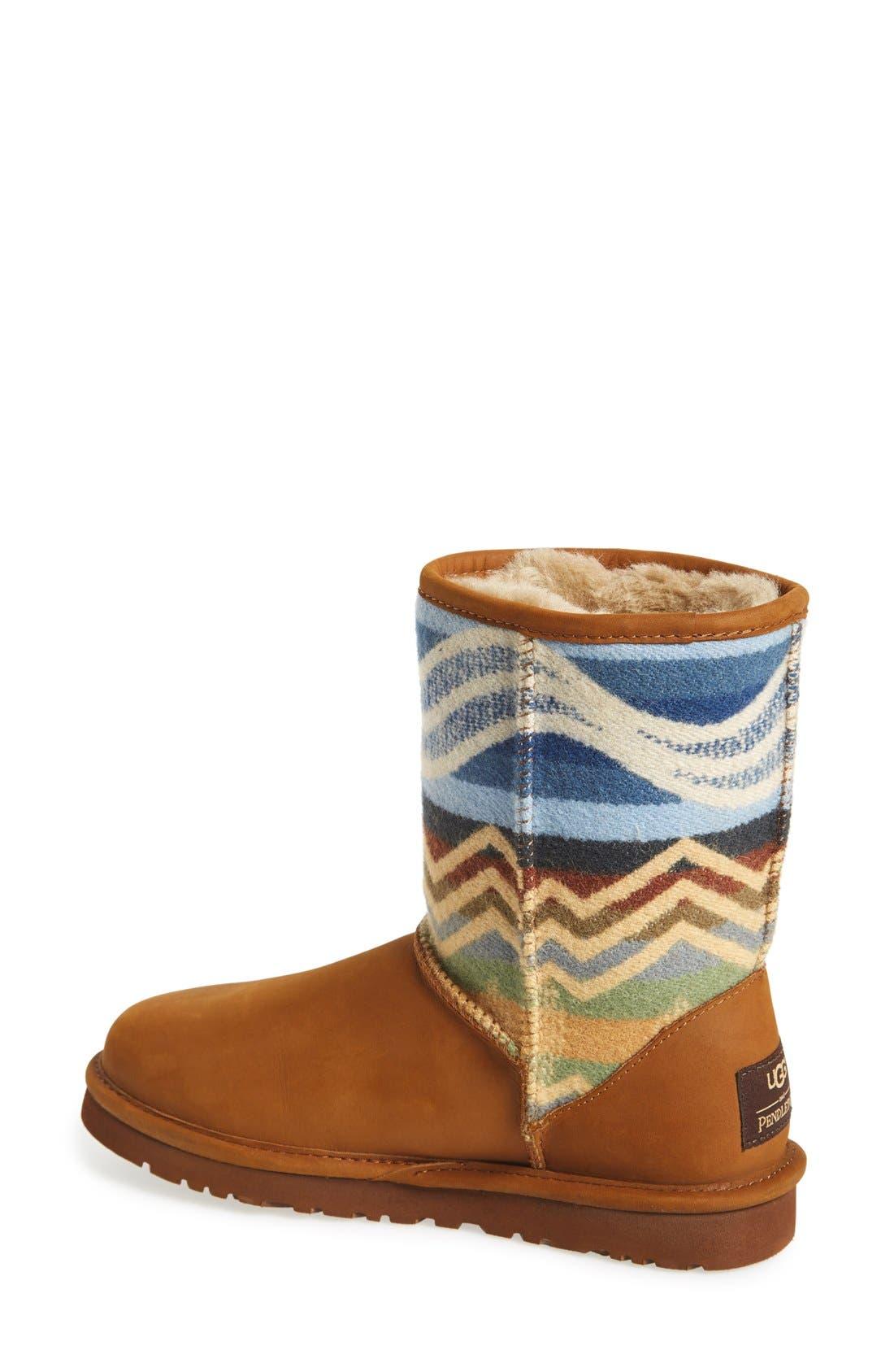 Alternate Image 2  - UGG® 'Classic ShortPendleton'Boot (Women)