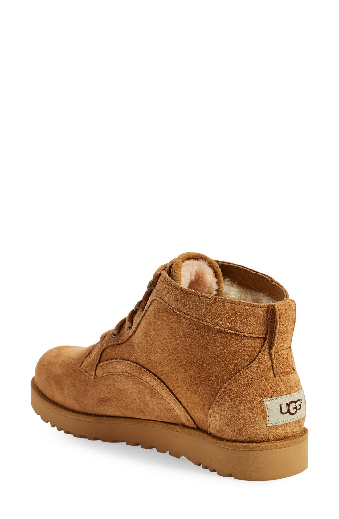Bethany - Classic Slim<sup>™</sup> Water Resistant Chukka Boot,                             Alternate thumbnail 2, color,                             Chestnut Suede