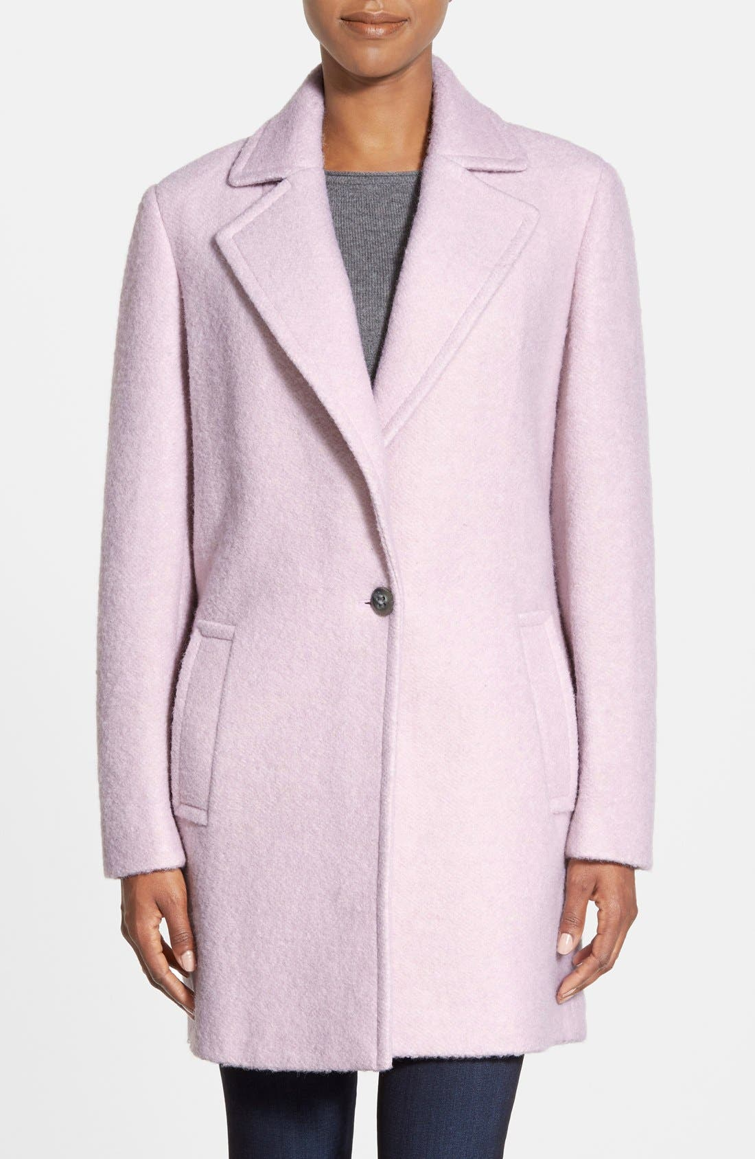 Alternate Image 1 Selected - Calvin Klein Blouclé Walking Coat