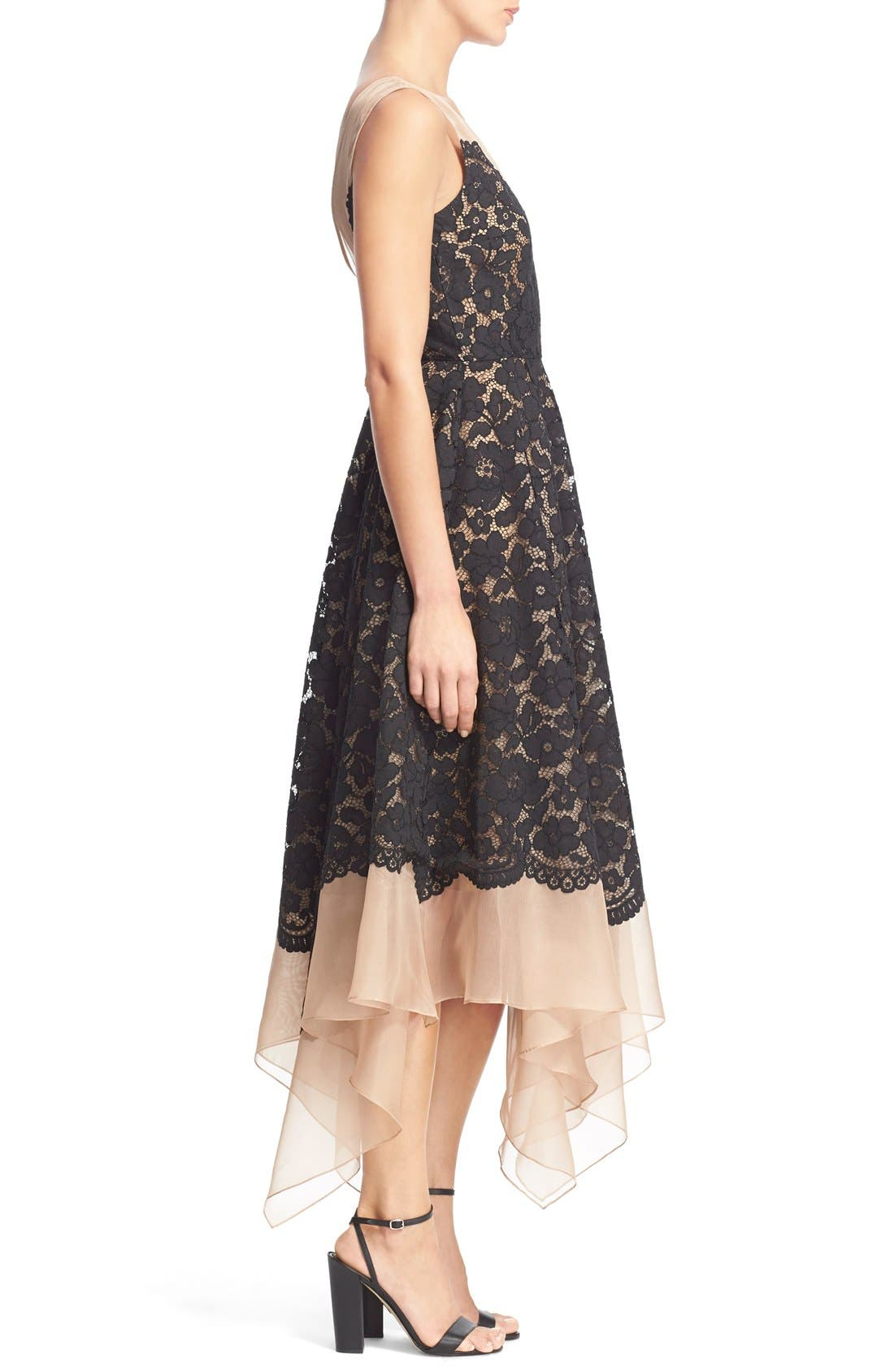 Alternate Image 3  - Tracy Reese Lace Overlay Handkerchief Illusion Dress