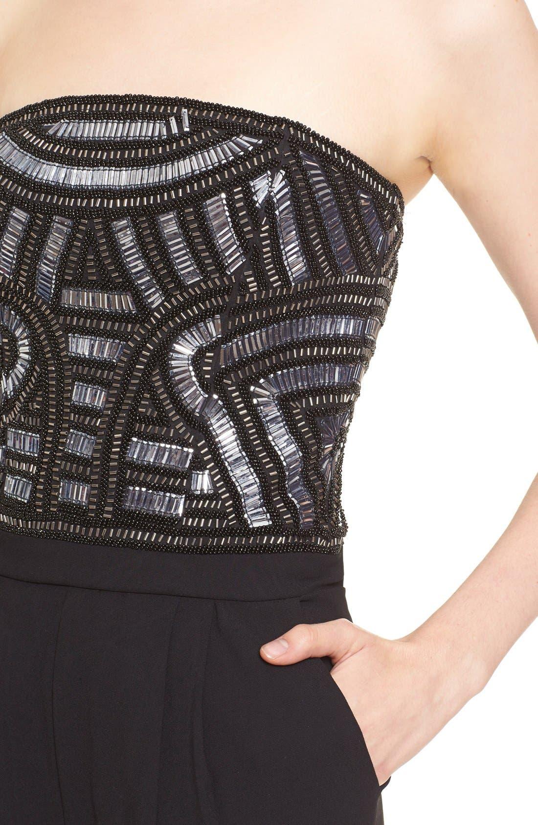 Alternate Image 4  - Parker 'Giovanna' Embellished Strapless Jumpsuit